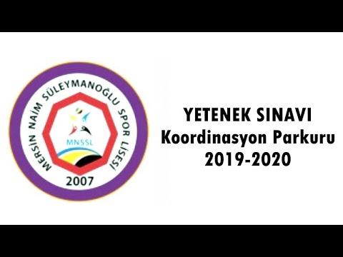 Mersin Naim Süleymanoğlu Spor Lisesi Yetenek Sınavı KOORDİNASYON PARKURU