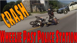 WHEELIE Past a POLICE STATION & CRASH ON THE STREET | Chester County PA Trail Riding EP 2 S1