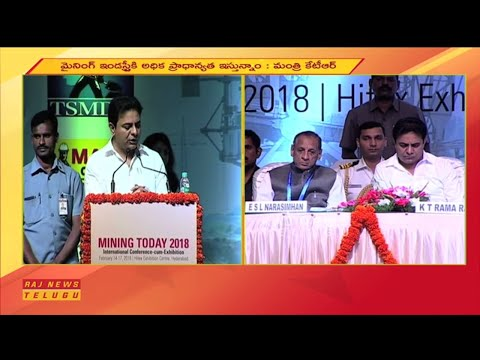 "IT Minister KTR Participates in ""MIning Today 2018"" International Conference 