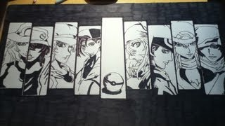 Amazing Custom Pokemon Trainer Playmat Drawing
