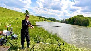 З сином на рибалці в селі Лобачів