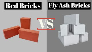 Difference Between Red Bricks and Fly ash Bricks