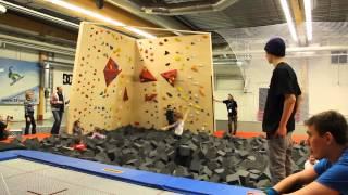 Parkour | Trampoline | Foam pit | Fun at Vuokatti Freestyle Hall