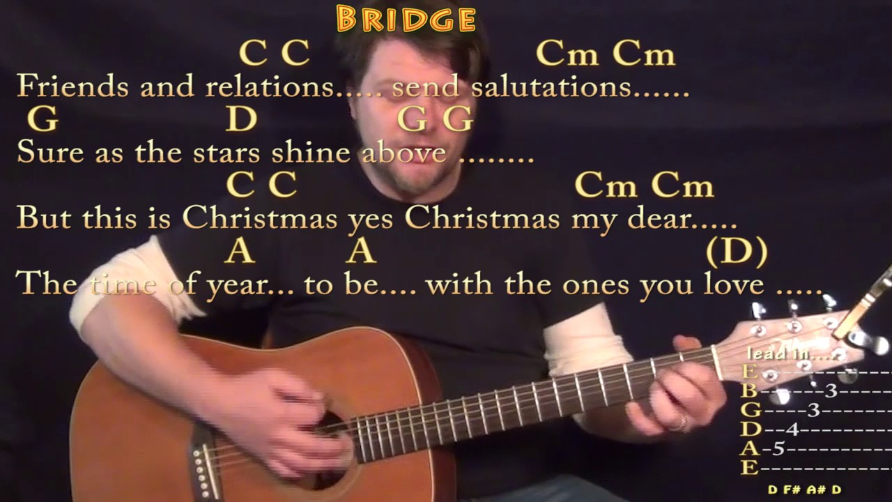 how to play please come home for christmas on guitar
