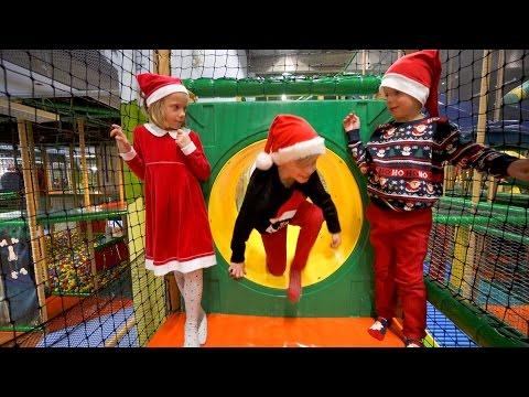 Christmas Magic at Busfabriken Indoor Playground (play center fun for kids)