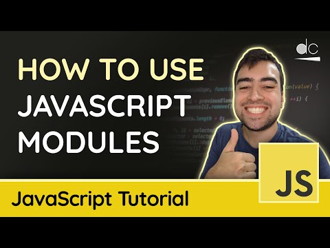 JavaScript Modules with Import/Export Syntax (ES6) - JavaScript Tutorial thumbnail