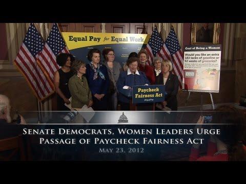 Senate Democrats, Women Leaders Urge Passage of Paycheck Fairness Act