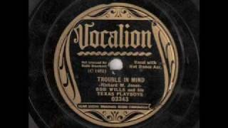 Bob Wills & His Texas Playboys - Trouble In Mind (1936)