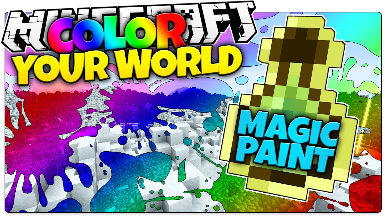 A game color world - Minecraft Magic Paint Color Your World Minecraft Custom Command Redstone Map Youtube