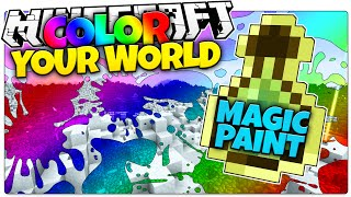 Minecraft | MAGIC PAINT | Color Your World (Minecraft Custom Command Redstone Map)