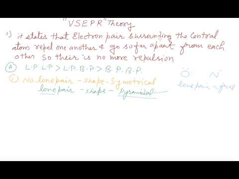 VSEPR THEORY   Class 11 Chemistry Chemical Bonding and Molecular Structure