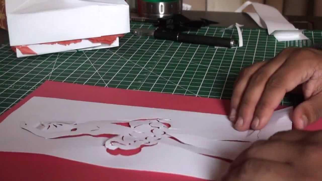 kirigami pop up ballerina greeting card tcgames hd youtube