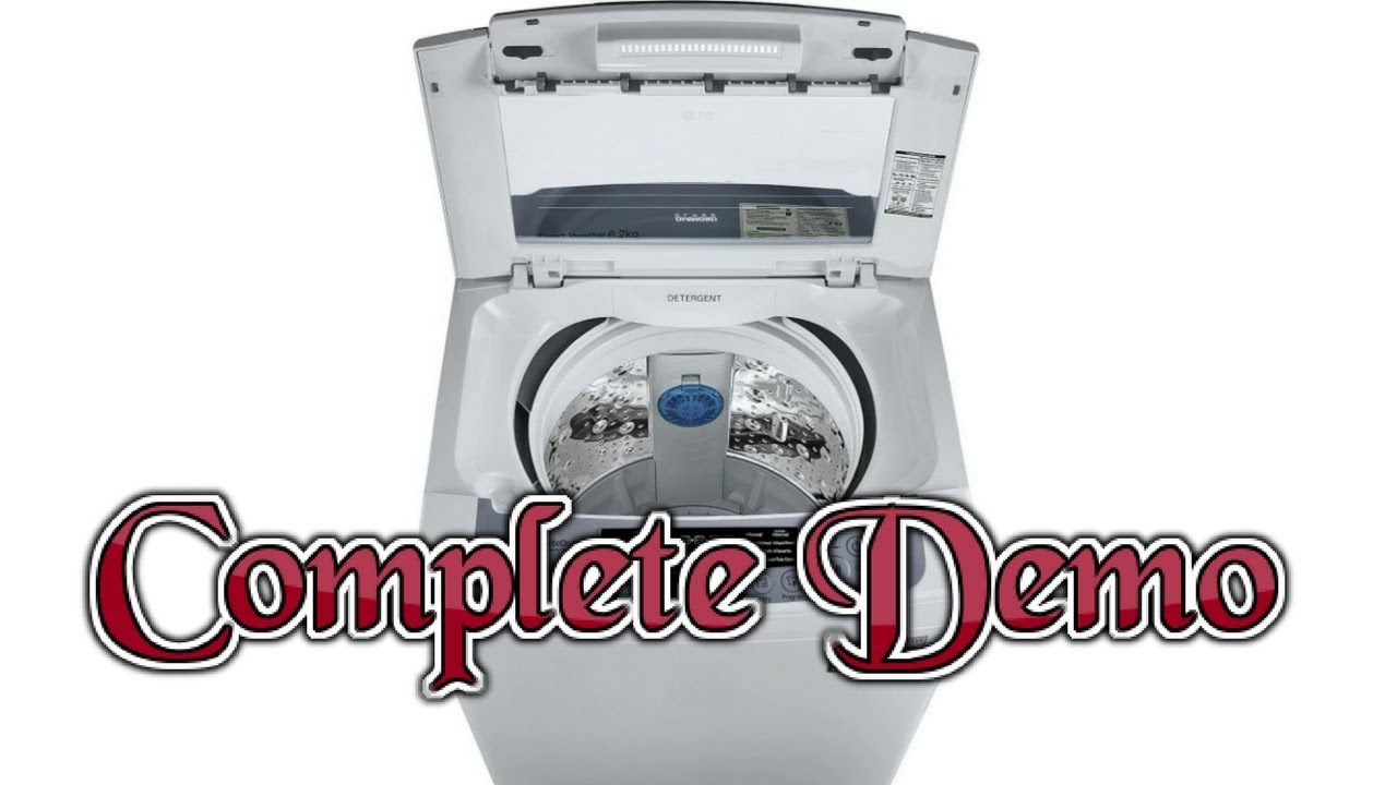 Demo of LG 6 2 kg Fully Automatic Top Load Washing Machine [ Model no  T7269NDDL ]
