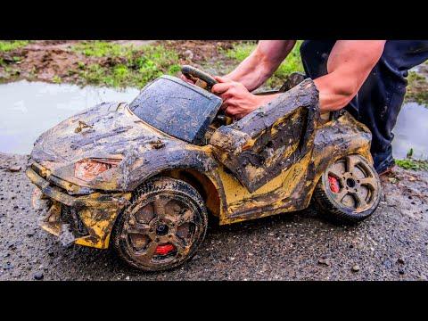 Lamborghini Aventador – Restoration Abandoned Kids Car