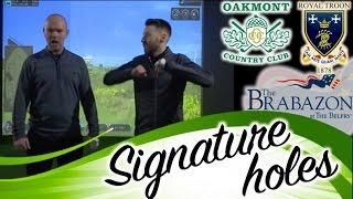 signature holes challenge golf simulator vlog