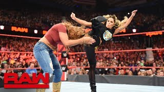 Trish Stratus & Lita pummel Alexa Bliss & Mickie James: Raw, Oct. 8, 2018