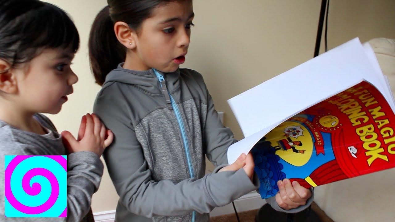 Niña hace Magia con Libro de Colorear - YouTube
