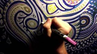 Live Painting Time-Lapse through Google Glass at Rootwire Festival 2013