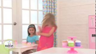 Pink Cupcakes & Stand Set Role Play Kitchen Baking Toys Kidkraft 63172