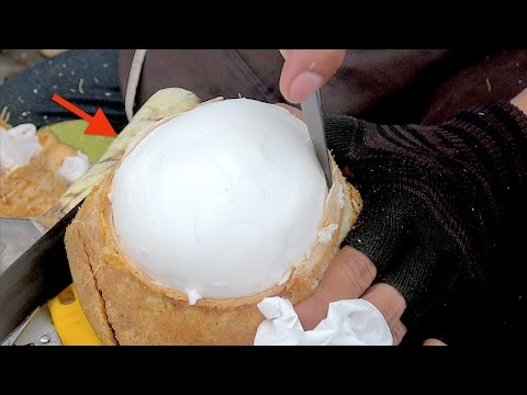 Thumbnail: Amazing Coconut Cutting Skill | Fruit Market Worker Street Food