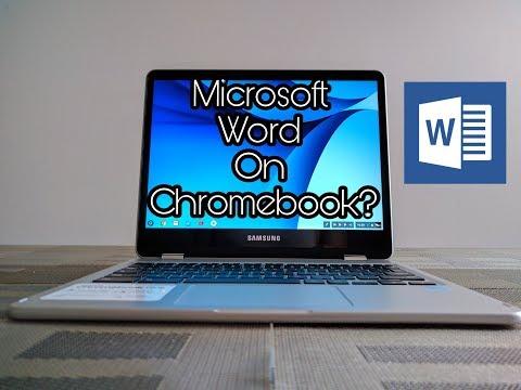 Chromebook - How To Use Microsoft Word - 2017