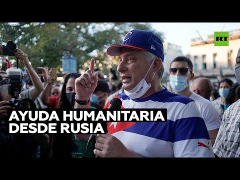 Presidente de Cuba agradece a Rusia envío de ayuda humanitaria para enfrentar la crisis sanitaria