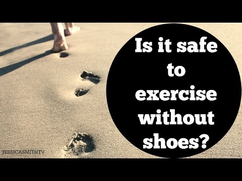 Is it safe to exercise without shoes?