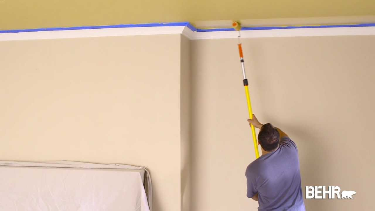 Expert Advice on How-to Paint a Home Ceiling   Behr