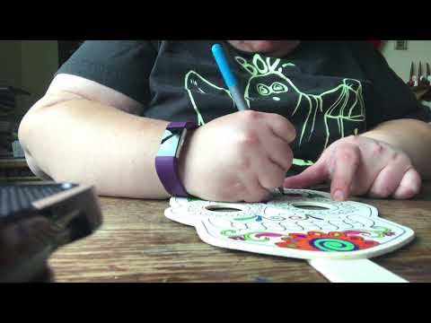 Me coloring a Sugar skull mask part two music video
