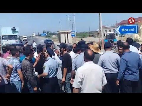 Su tapmayan Moranlılılar Sabirabad-Bakı yolunu bağladı