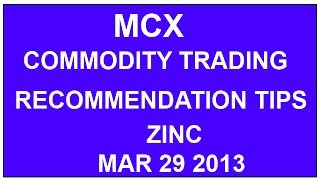 MCX Commodity Trading Recommendation and Tips zinc mini strategy Chennai Tamilnadu India