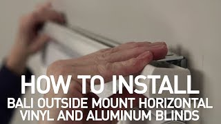How to Install Bali® Horizontal Vinyl and Aluminum Blinds - Outside Mount Mp3