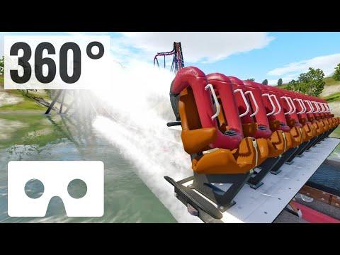 VR Video 360° Roller Coaster Google Cardboard SBS 360 Degree VR Box 8K