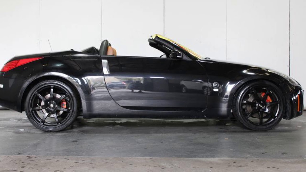 2006 nissan 350z z33 my06 upgrade roadster touring black 5 speed2006 nissan 350z z33 my06 upgrade roadster touring black 5 speed automatic convertible