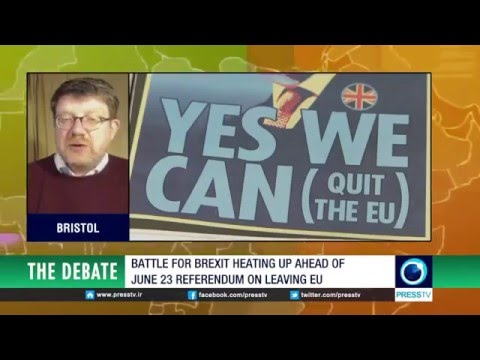 Britain fights for independence from Brussels BREXIT BATTLE Tony Gosling 18May2016