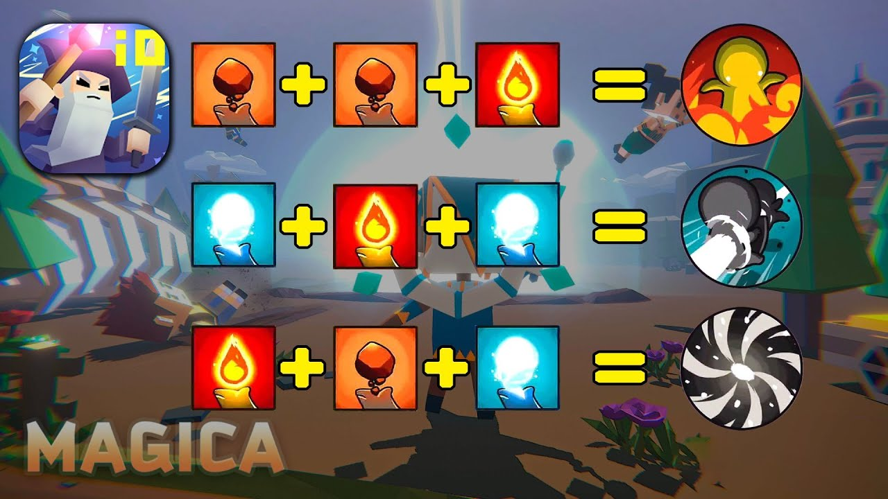 Download Magica.io   Elements combination, how to power up with fire, water & earth