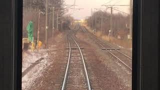 前面展望動画 JR北海道 快速エアポート 南千歳→札幌
