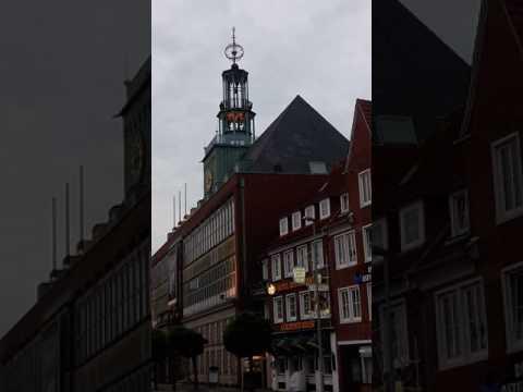 Emden Rathaus Glockenspiel - Chimes in downtown Emden, Germany