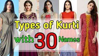 Top 30 designer kurti 2019  Types Of Kurti for girls    Latest Kurti    Stylish kurti with name