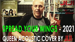 Spread Your Wings - Queen | John Deacon's acoustic cover by Jiji, the Veg-Italian busker, vers. 2021