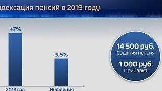 Страховые пенсии неработающих пенсионеров проиндексируют на 7 % в 2019 году
