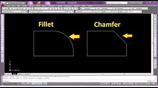 Comment Utiliser Filet & Chanfrein Commande dans Autocad [Hindi - हिंदी]