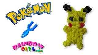 ПОКЕМОН ПИКАЧУ из резинок на рогатке без станка | Picachu Pokemon Figurine Rainbow Loom