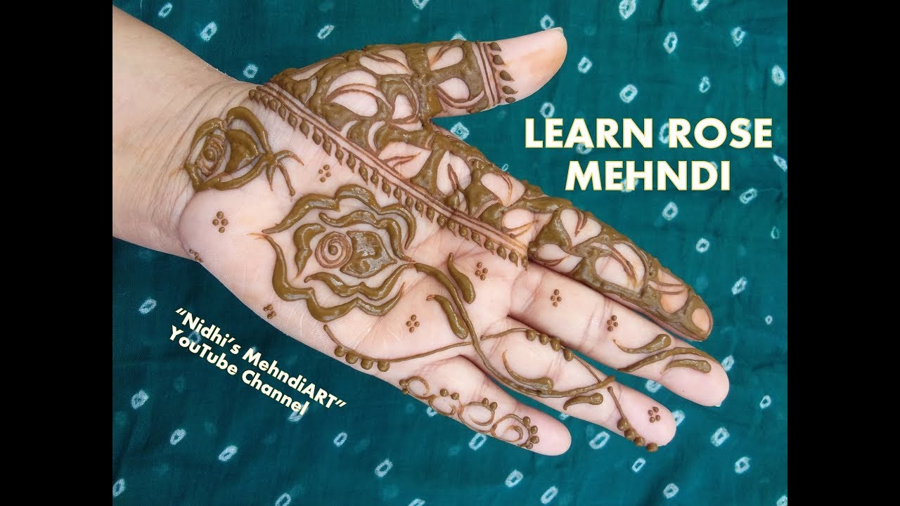 Mehndi Henna Kit Tutorial : Learn simple rose mehndi designs with step by video tutorial