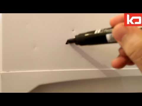 How to Clean Permanent Marker ink from Fridge easy Hack