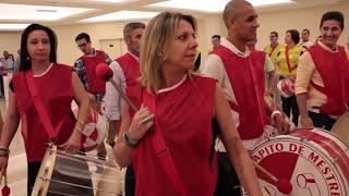 Experiência samba treinamento dinâmica show com bateria de escola de samba  Apito de Mestre
