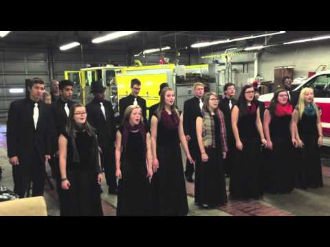 Omaha Christian Academy performs at Omaha Fire Station 43-C