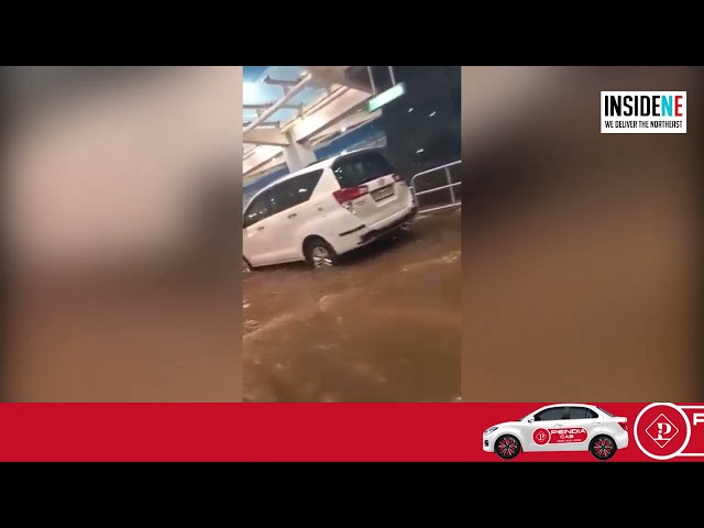 Watch: Bengaluru airport flooded after heavy rain, passengers take tractors to catch flight