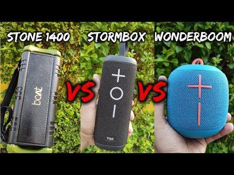 BOAT STONE 1400 vs TRIBIT STORMBOX vs ULTIMATE EARS WONDERBOOM | Comparison & Sound Test | Under 5k