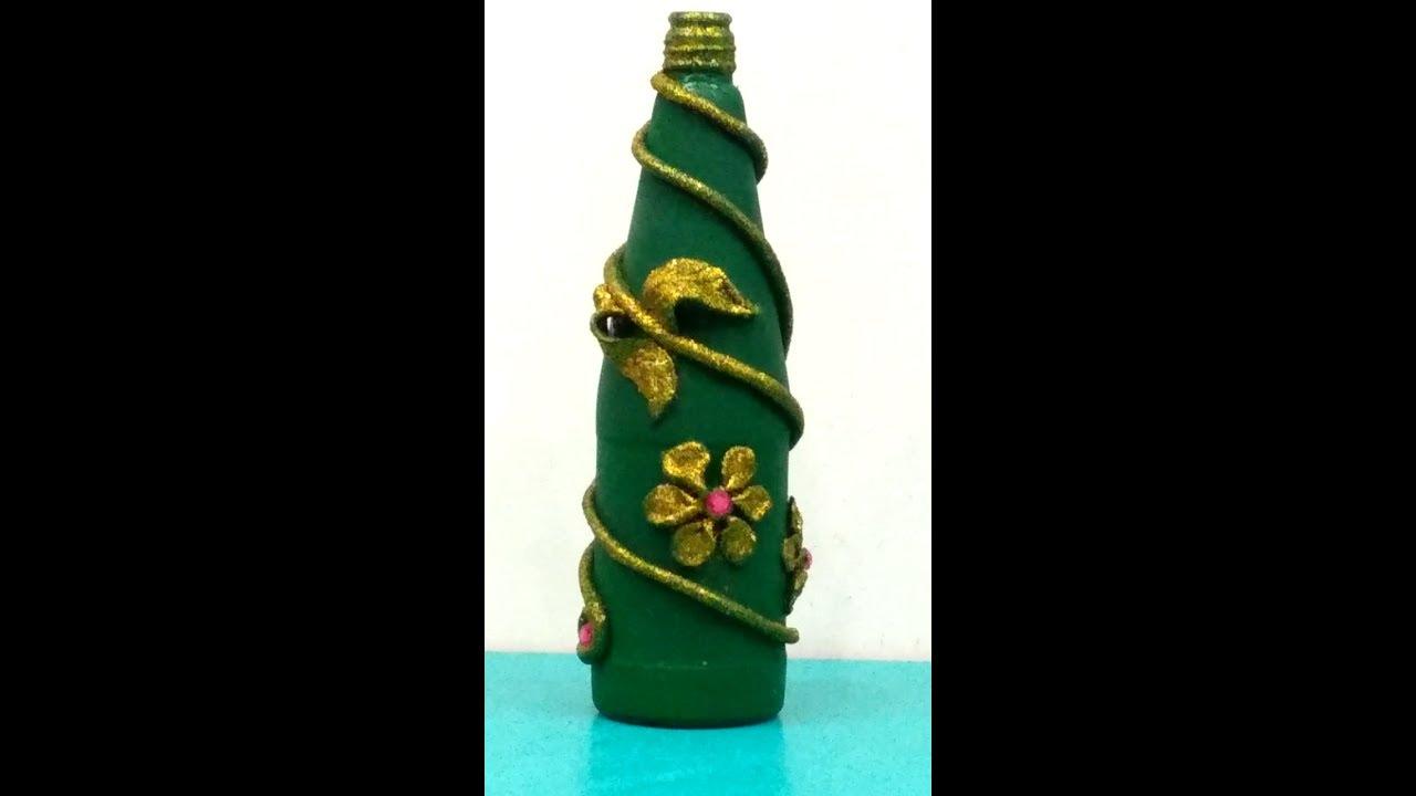 Shilpkar(m-seal) design on waste bottle || Easy diy for ...